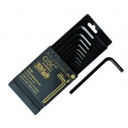 Caja 9 llaves ALLEN de 1,5mm. a 10mm.