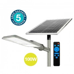 Farola solar LED 100W 4000K...