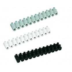 Pack 10 Regletas de conexión. 25mm. color negro.