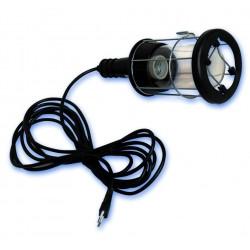 Lampara portatil industrial con pantalla metalica y goma, Max.60W/230V-50Hz.de 5 Metros.