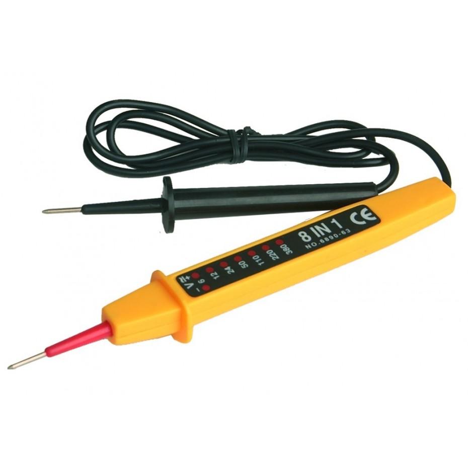 Comprobadores de voltaje. TESTER, Verifica circuitos. indica voltaje AC/DC en 6, 12, 24,50,110,220 y 380V.