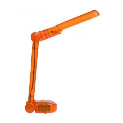 Lámpara Flexo de sobremesa naranja con bombilla de bajo consumo PL9W plegable