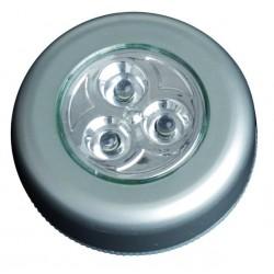 Pushlight de 3 LEDS luz blanca. ideal para habitaciones, garajes, escaleras, caravanas, campings, etc. 3 R 03 AAA.