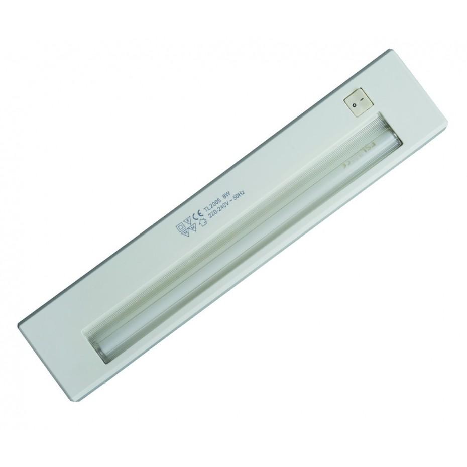 Regleta electrónica blanca 8 W 342 mm T5 - 1 fluorescente