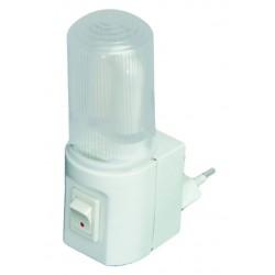 Luz de noche con interruptor 3W- 230V. Ideal para habitaciones, garajes, escaleras, etc.