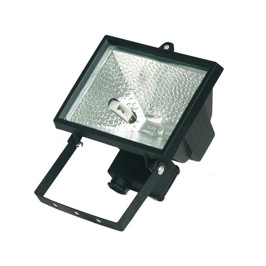 Foco halogeno con sujección giratoria variable, 500W, Blanco.