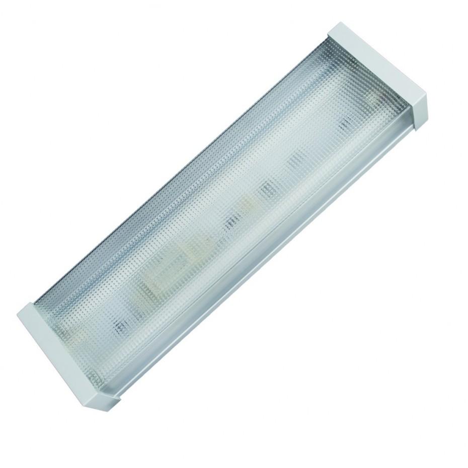 Pantalla luminosa tipo panal para 2 tubos fluorescentes tipo T8, 2x18W.