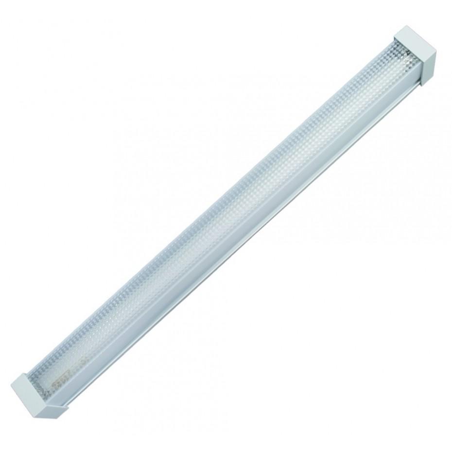 Pantalla luminosa tipo panal para 1 tubo fluorescente tipo T8, 1x36W.